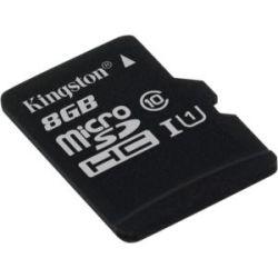 Kingston SDC10G2/8GBFR, 8GB microSDHC Class 10 UHS-I 80R Flash Card Far East Retail