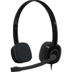 Logitech H151 Single-Pin Stereo Headset - Black