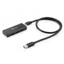 j5create USB 3.0 4-Port Mini Hub (w/ 5V/4A adapter)