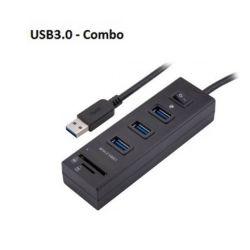 EZCool USB3.0 HUB 3-Port with Switch + Card Reader