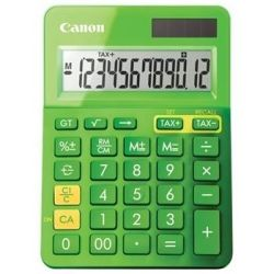 Canon Dual Power Mini Desktop Calculator 12 Digit Upright-angled LCD display Grand total function Memory, Square root and percentage fu