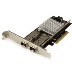 StarTech 2-Port 10G Fiber Network Card with Open SFP+ - PCIe, Intel Chip