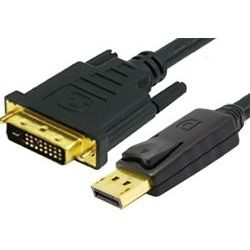 1m DisplayPort Male to Single Link DVI-D Male Cable