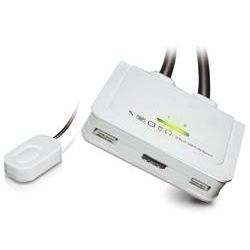 ServerLink 2-Port Cable KVM with QuickSwitch - HDMI/USB with Audio - Supports Full HD 1920x1200
