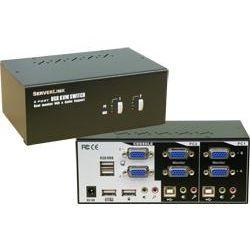 ServerLink 2-Port Dual VGA Monitor KVM - 2x VGA/USB/Audio