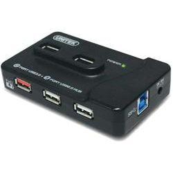 6 Port USB Desktop Hub with AC adapter - 2x USB 3.0, 4x USB 2.0 + iPad Charging Port