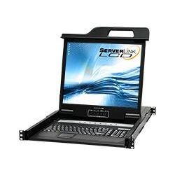 ServerLink LCD Console Drawer 19 inch, 8-Port KVM VGA, USB, PS/2 Optional IP access