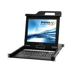 ServerLink LCD Console Drawer 17 inch, 16-Port KVM VGA, USB, PS/2 with Remote IP access