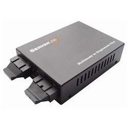 ServerLink Gigabit SC Multi-Mode to SC Single-Mode Fibre Media Converter 850nm/1310nm to 550m/20km