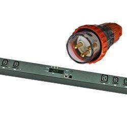 ServerLink 32A Switched Zero U Vertical PDU, 14x 10A IEC-C13 Sockets, 2x 16A IEC-C19 Sockets and 1x 3m 32A IP56 3-Pin Round Captive Input Plug