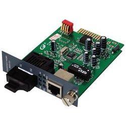 ServerLink Gigabit 10/100/1000Base-TX to 1000Base-FX Card Type Fibre Media Converter SC Single-Mode 1310nm to 20km