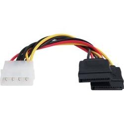 SATA Power Splitter Cable - 1x Molex (M) to 2x SATA (F)