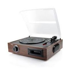 mbeat MB-USBTR08, USB Turntable and Cassette to Digital Recorder 2-in-1, USB Out and Audio RCA In/Out (R&L)