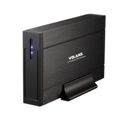 Volans VL-UE35, 3.5 inch USB3.0 HDD Enclosure Black Aluminium, Hot Swappable, 1yr Wty