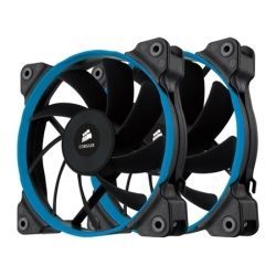 Corsair Twin Pack Air Series SP120 Quiet Edtiion Case Fan, 3x Replaceable Coloured Rings, Outstanding Static Pressure Best for Radiator and Heatsink