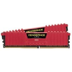 Corsair DDR4, 2400MHz 16GB 2x 288 DIMM, Unbuffered, 16-16-16-39, Vengeance LPX Red Heat spreader, 1.20V, XMP 2.0