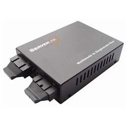 ServerLink Gigabit SC Multi-Mode to SC Single-Mode Fibre Media Converter 850nm/1310nm to 550m/60km