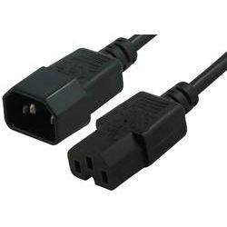 1m High Temperature Power Cable IEC-C14(M) - IEC-C15(F)