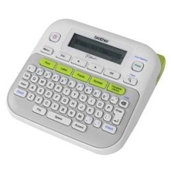 Brother PT-D210 Gray/White Accent Green Desktop Labeller - 3.5-12mm TZE Tape Model
