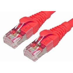 2m 10GbE Cat 6A S/FTP Shielded Patch Cable - Red