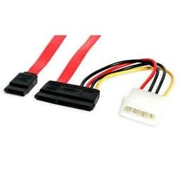 50cm SATA Data and Power Combo Cable - 1x Molex (M) + 1x SATA to SATA Data/Power Connector