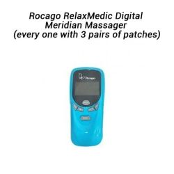 Rocago RelaxMedic Digital Meridian Massager (every one with 3 pairs of patches)