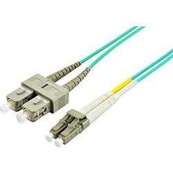 1m LC-SC Multi-Mode Duplex Fibre Patch Cable LSZH 50/125 OM3