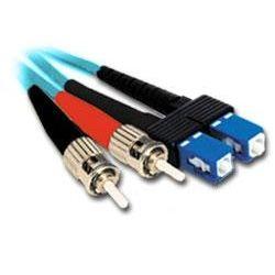1m ST-SC Multi-Mode Duplex Fibre Patch Cable LSZH 50/125 OM4