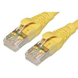 50cm 10GbE Cat 6A S/FTP Shielded Patch Cable - Yellow