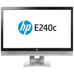 HP E240c 23.8 inch IPS w/LED Backlight Monitor - 1920x1080, 16:9, USB Ports, Speakers + Webcam + Mic