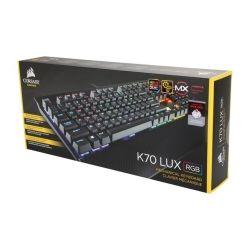 Corsair Gaming K70 LUX RGB Mechanical Keyboard, Backlit RGB LED, Cherry MX Brown