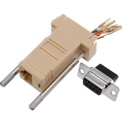 RJ45F to DB9F Adapter - Re-wireable
