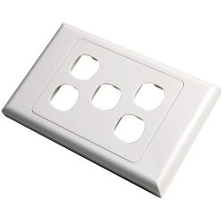 5 Way Clipsal Style Wall Plate