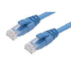 0.5m Cat 5E RJ45 - RJ45 Network Cable - Blue