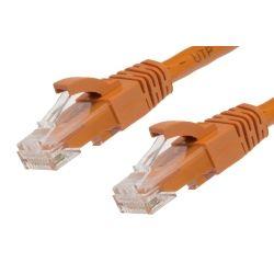 0.25m Cat 6 RJ45-RJ45 Network Cables - Orange