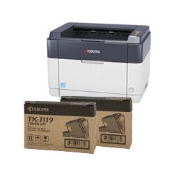 Kyocera FS-1041 Mono Laser Printer + 2 BONUS TK-1119 Black Toner Cartridges