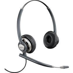 Plantronics EncorePro HW720D Over-The-Head Wideband Binaural NC Corded Headset TOP W/ DA90
