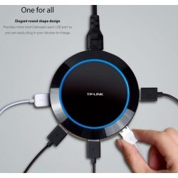 TP-Link 5-Port USB Charger Hub 25W 5A 1.65X Fast Charging Smart Circuit Design Universal Auto Detect iPhone Android Windows & USB Devices