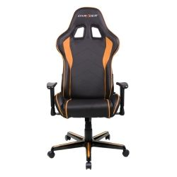 DXRacer F Series Gaming Chair, Sparco Style, Neck/Lumbar Support - Black and Orange