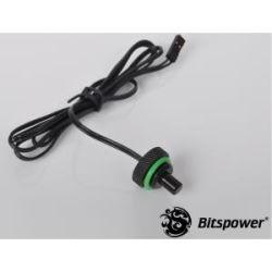 Bitspower G1/4 Temperature Sensor Stop Fitting - Black