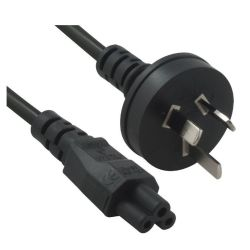 8Ware Power Cable from 3-Pin AU Male to IEC C5 Female Plug in 2m