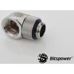 Bitspower G1/4 Rotary 90D IG1/4 Extender - Silver