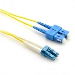 LINKBASIC Single Mode OS1 LSZH Duplex SC-LC Fibre Optic Patch Cord 3m