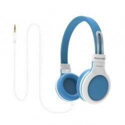 Promate 'Impulse' Kids safe Universal On Ear Wired Headset- Blue
