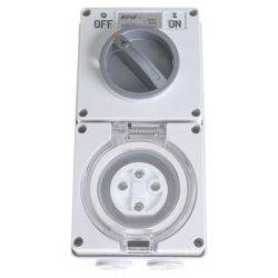 SPM IP66 4P Combination Switch Socket 32A