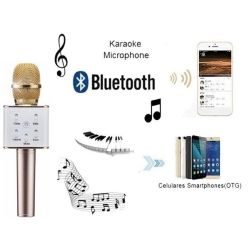 Q7 Wireless Bluetooth Microphone Sing Karaoke with Smartphone/PC and Media Player
