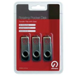 Shintaro 4GB Rotating Pocket Disk 3 Pack