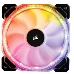 Corsair HD 140mm PWM RGB LED Fan. 12 independent RGB LEDs. High static pressure tuned for optimal air delivery