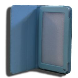 Leader Computer LeaderTab7 Folio Case Blue Faux Leather. Camera Hole rear