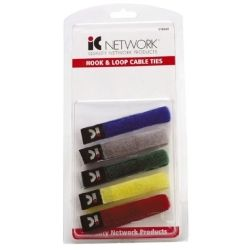 Cabac Hypertec VelcroColour Cbl Tie Pack of 5 (LS)
